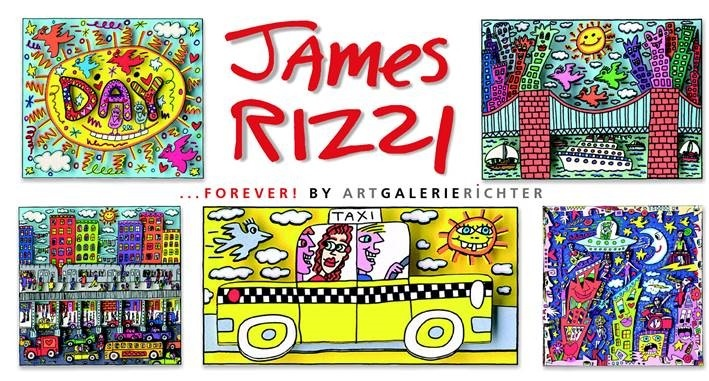 forever james rizzi is the theme of the pop art exhibition at art galerie richter in berlin